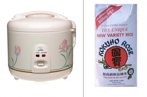 Rice cooker and rice